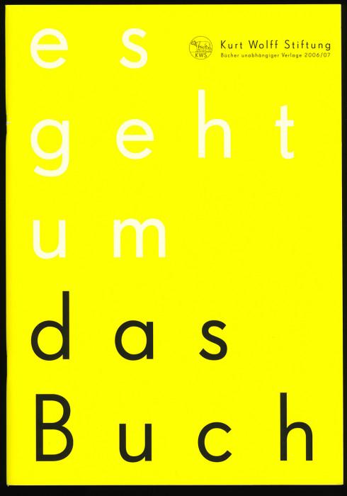 Kurt Wolff Stiftung 2006