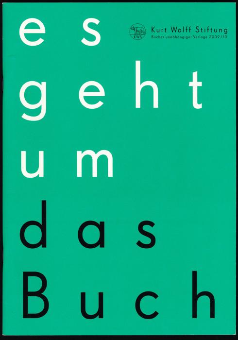 Kurt Wolff Stiftung 2009