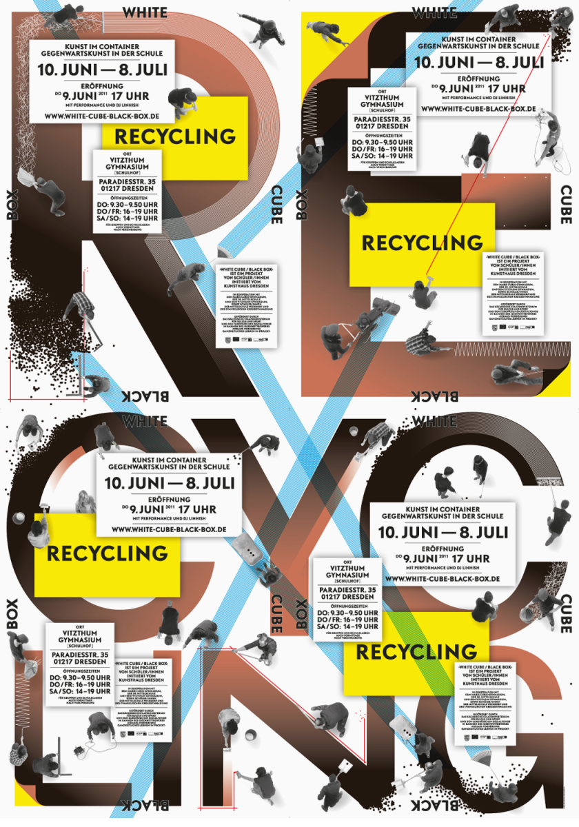white_cube_black_box_recycling_kunsthaus_dresden_poster