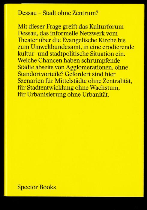 Dessau – Stadt ohne Zentrum?